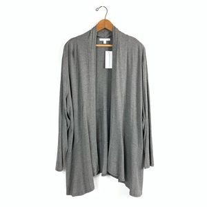 NWT Notations Gray Open Fave Cardigan size 2X